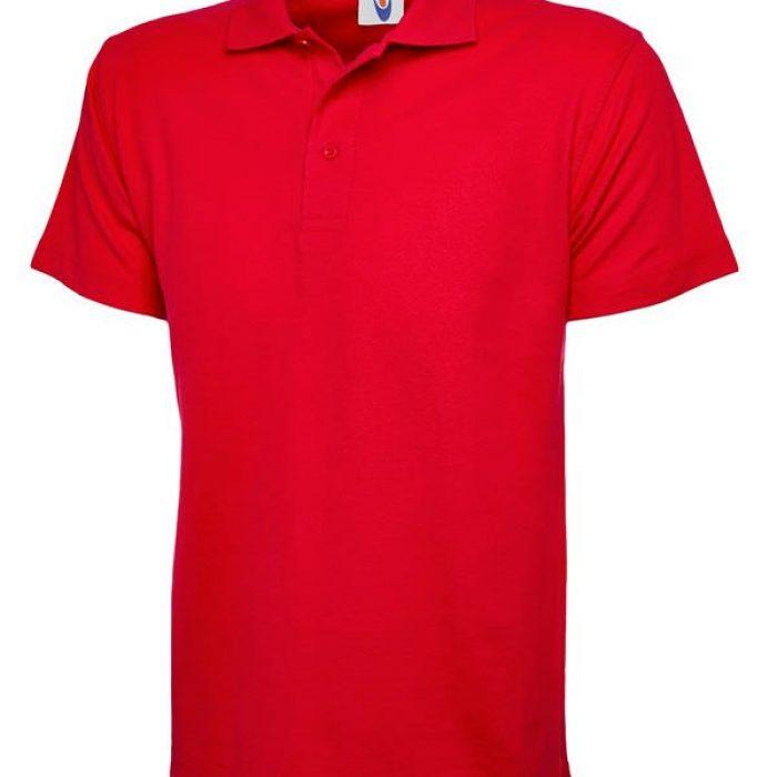 pique polo shirt UC101 red