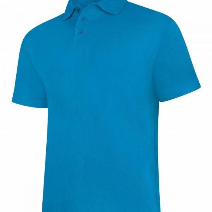 pique polo shirt UC101 sapphire blue