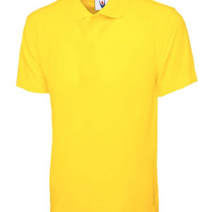 pique polo shirt UC101 yellow